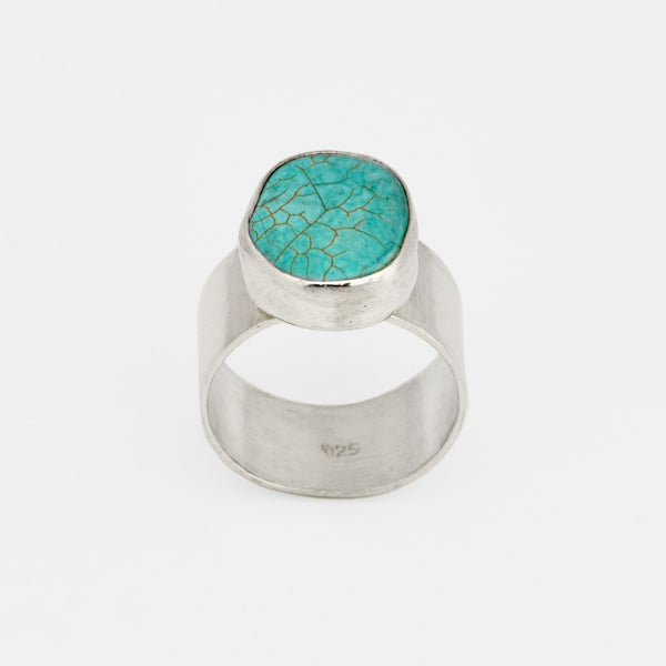 Silver and Turquoise Ring - Pargo Jewelry