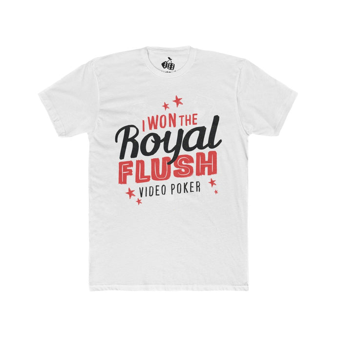 Men's Won Royal Flush Video Poker Tee, Solid White