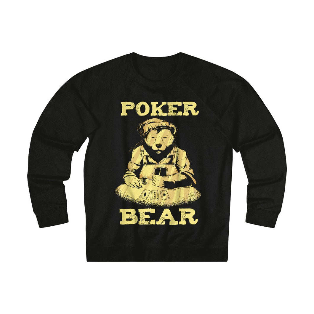 Men's Poker Bear Sweatshirt - Black
