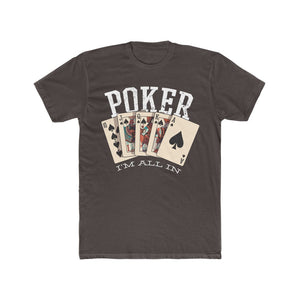 Men's Poker I'm All In Tee, Solid Dark Chocolate