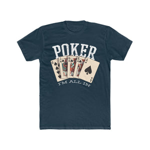 Men's Poker I'm All In Tee, Solid Midnight Navy