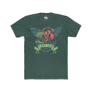 Men's Lady Luck T-Shirt - Solid Forest Green
