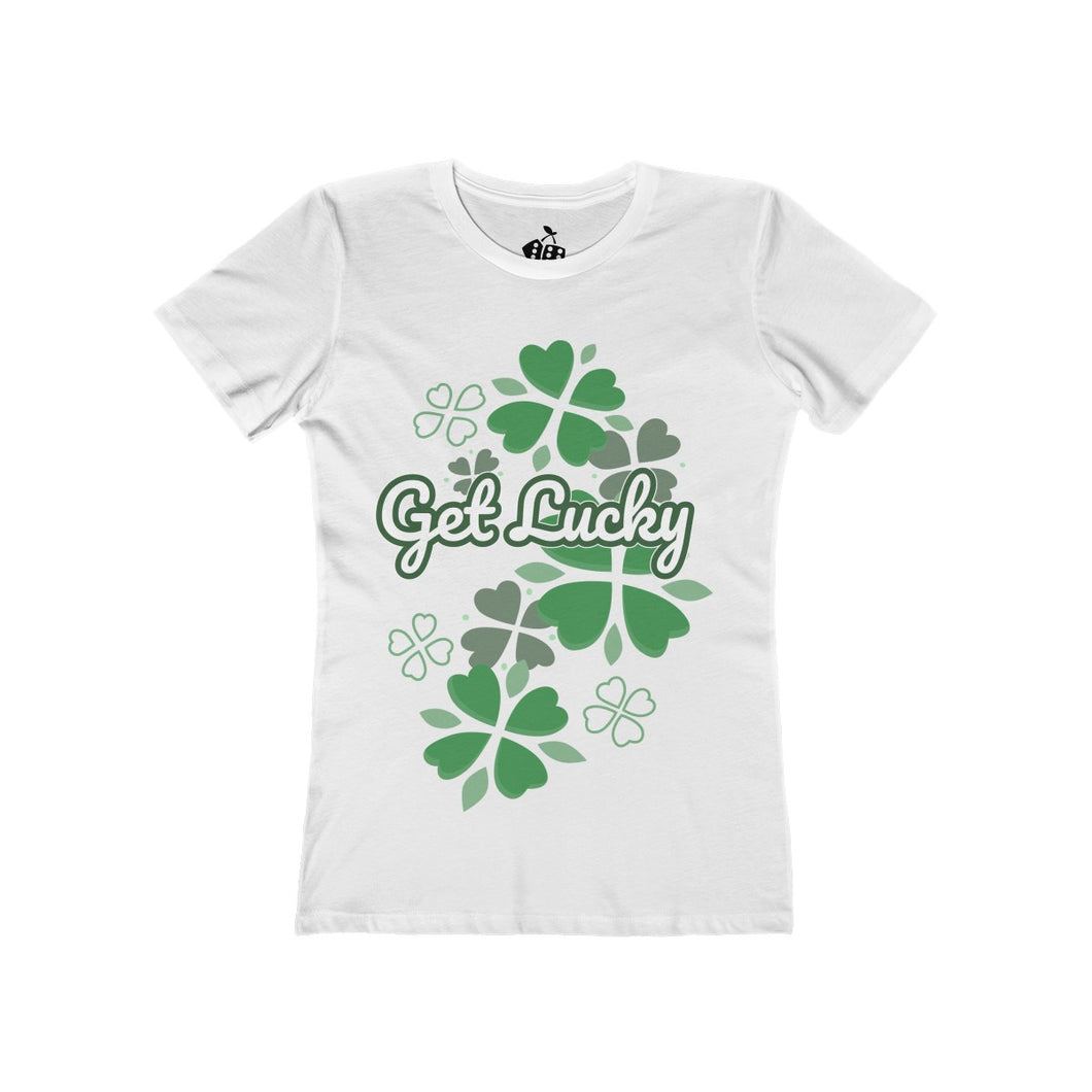 Women's Get Lucky T-Shirt - Solid White