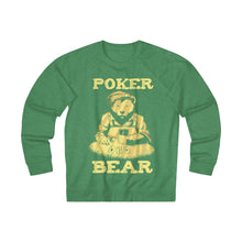 Load image into Gallery viewer, Men's Poker Bear Sweatshirt - Kelly Heather