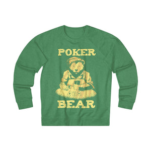 Men's Poker Bear Sweatshirt - Kelly Heather