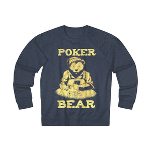 Men's Poker Bear Sweatshirt - Denim Heather