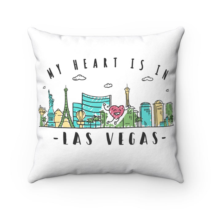 My Heart is in Las Vegas Square Pillow