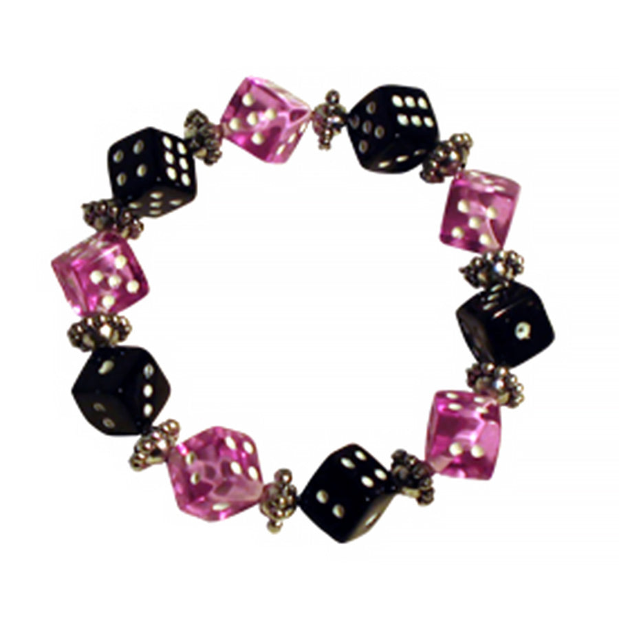 Purple & Black Dice Bracelet