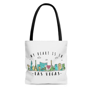My Heart is in Las Vegas Tote Bag