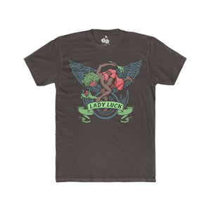 Men's Lady Luck T-Shirt - Solid Dark Chocolate