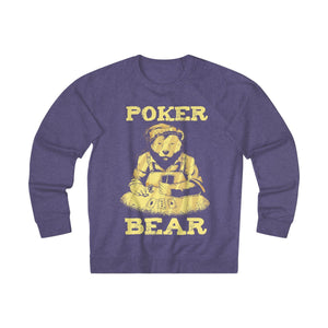 Men's Poker Bear Sweatshirt - Purple Heather