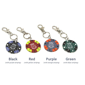 High Roller Poker Chip Keychain, Color Options