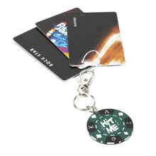 Load image into Gallery viewer, Hit Me Poker Chip Keychain with cards