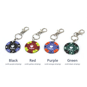 I Love Vegas Poker Chip Keychain, Colors