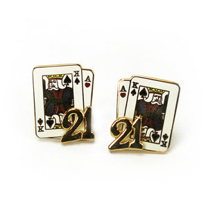 Blackjack Earrings