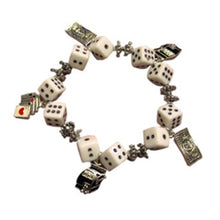 Load image into Gallery viewer, Gaming Charms Dice Bracelet, White