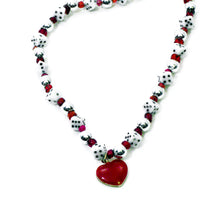 Load image into Gallery viewer, Heart Pendant Dice Necklace