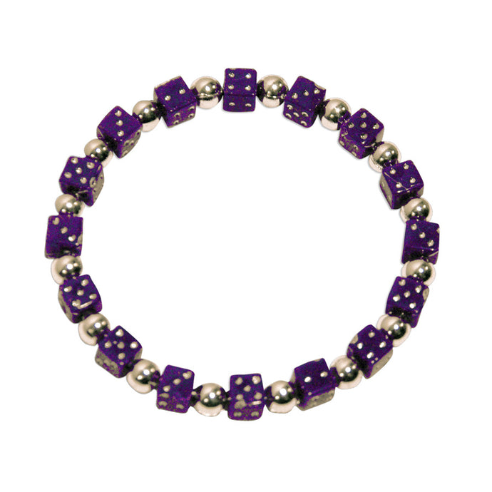 Purple Mini-Dice Bracelet
