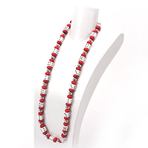 Red and White Dice Necklace