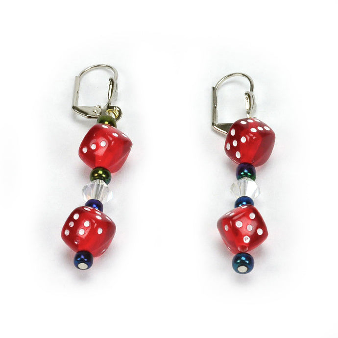 Red Dice Earrings