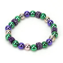 Load image into Gallery viewer, Mardi Gras Bead Bracelet