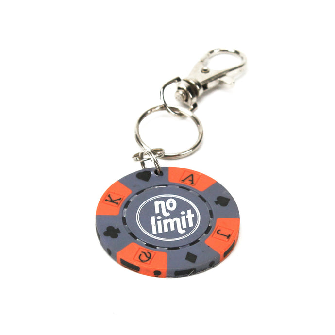 No Limit Poker Chip Keychain, Purple
