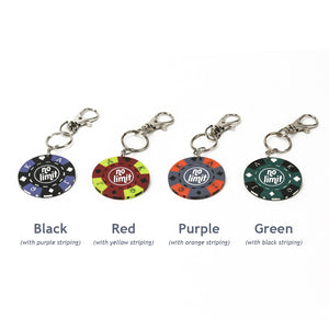 No Limit Poker Chip Keychain, Colors