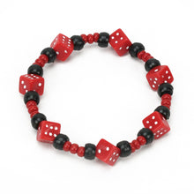 Load image into Gallery viewer, Red Dice Bracelet