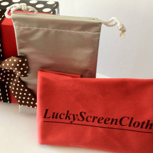 The Original LuckyScreenCloth® with storage pouch and gift box