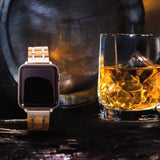 Smartwatch Uhrenband aus Barrique Whiskyfass