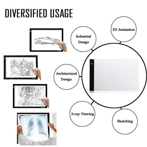 MONET A4 LED Digital Graphic Tablet - findmelights.com