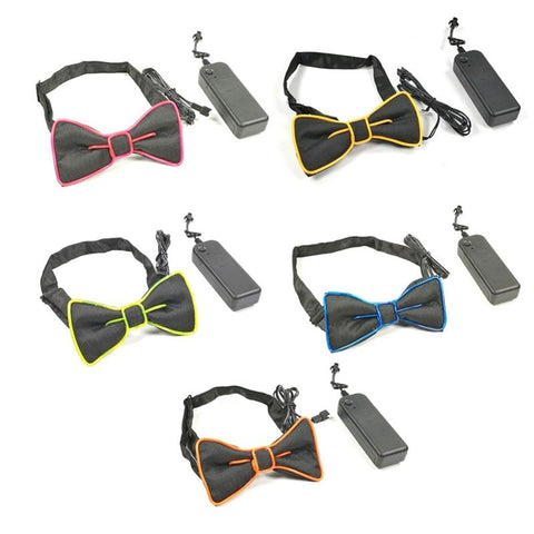 MAVERICK Glowing Colorful Party Bowtie - findmelights.com
