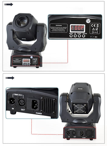 DMX 60W Moving Head Stage Light - findmelights.com
