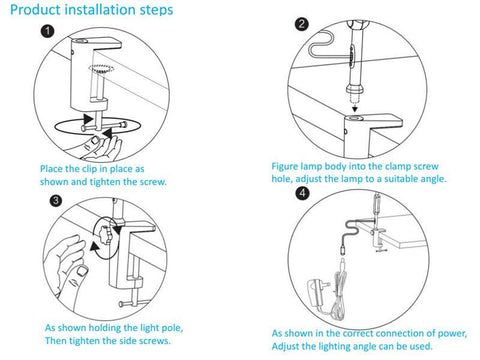 Long arm table clamp light - findmelights.com