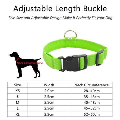 HOOCH IMPACT Rechargeable LED Dog Collar - findmelights.com
