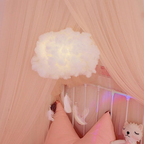 DREAMEZE™ Cotton Cloud Hanging Night Light - findmelights.com