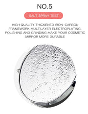 Magnifying mirror with LED light