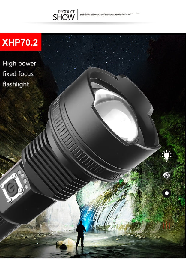 Most powerful led rechargeable tactical flashlight