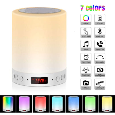 Smart Led Night Light with Bluetooth Speakers