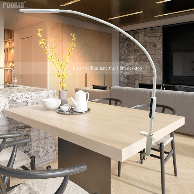 Pookin Long Arm Table Clip Light