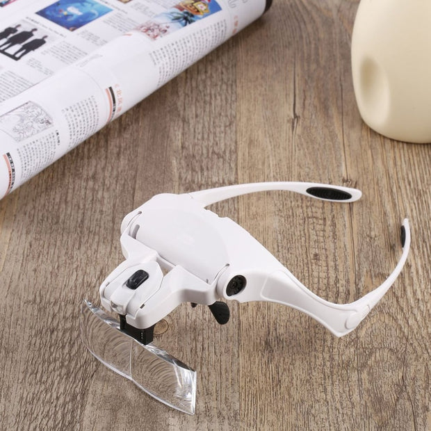 ACEHE Interchangeable LED Magnifier Glasses