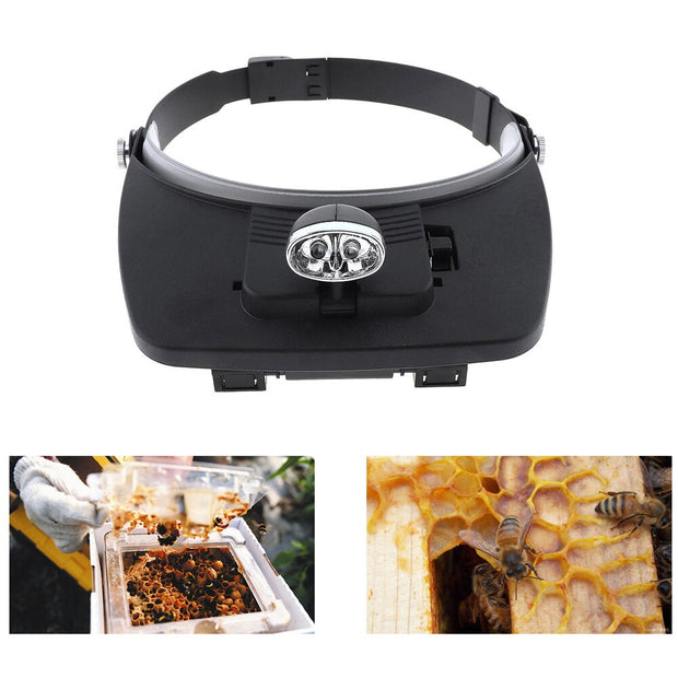 Beeworking Magnifying Glasses with LED Light