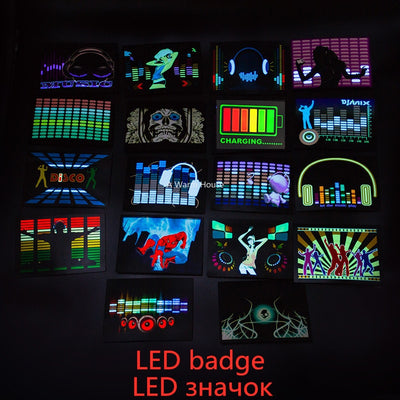 Glow-Up Party Badges