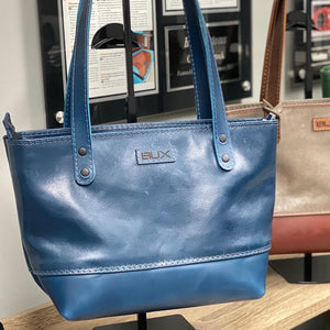 Beautiful hand crafted leather tote bags.