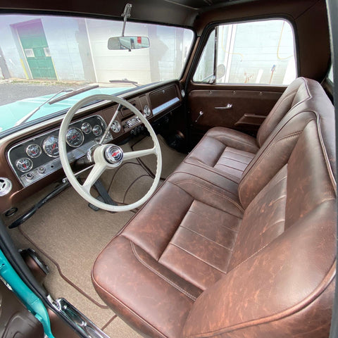 custom built c10 truck interior