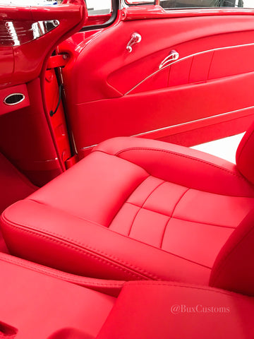 Custom built hot rod interior in leather