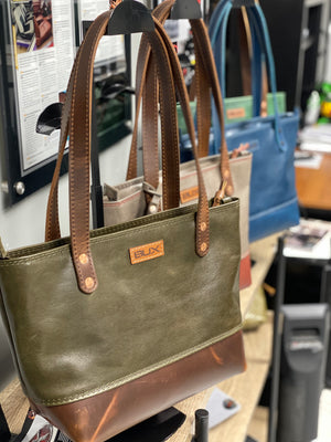 Bux Dakota Moss Zipper Tote