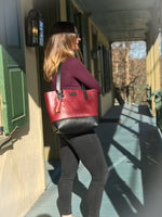 BUX Daily Tote Burgandy and Black