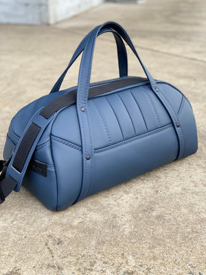 Italian Leather mens duffle bag