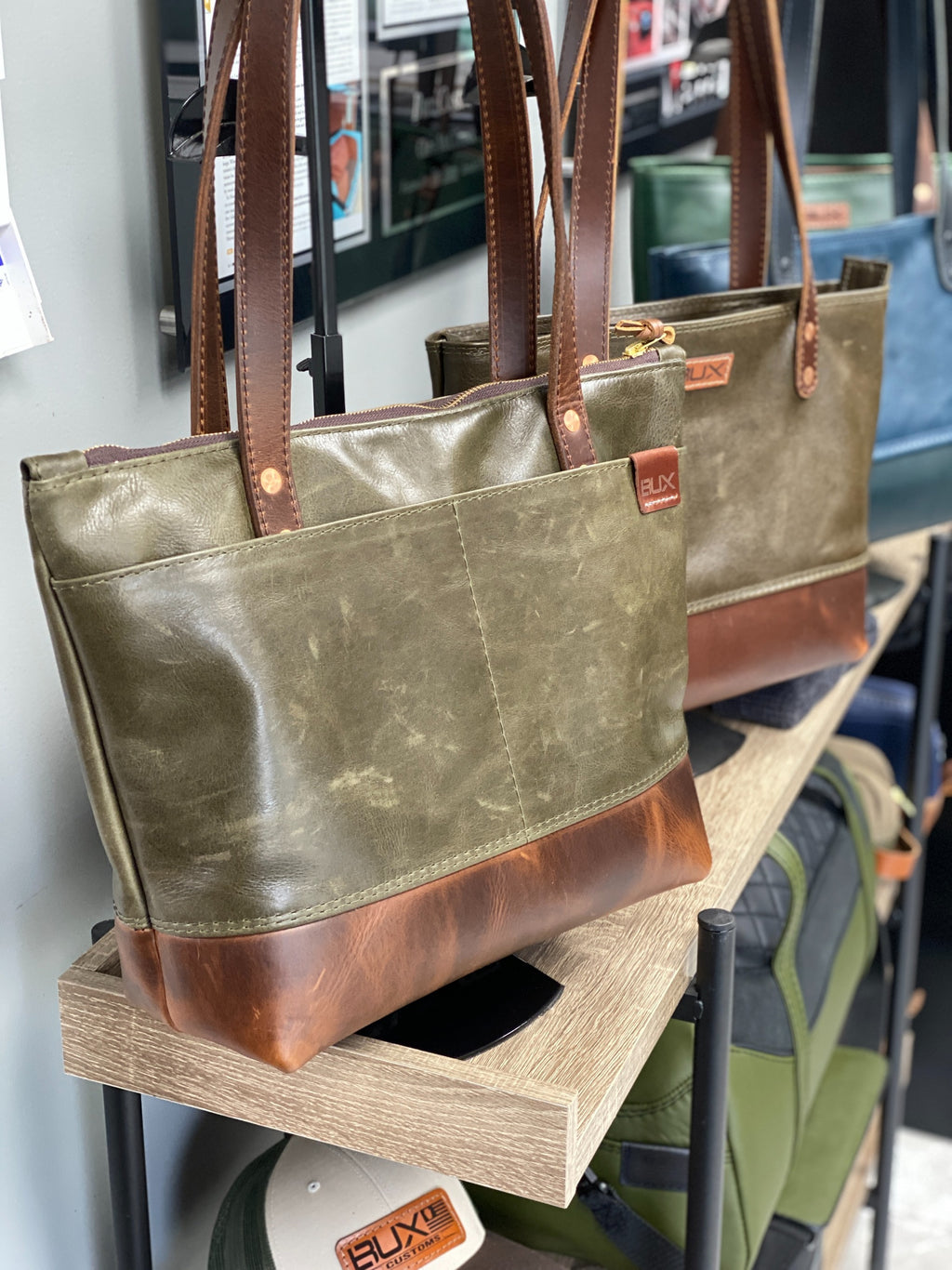 American made leather bags for men and women